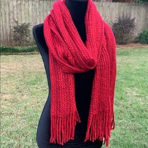 🆕 NWT Red woven shawl/scarf/wrap